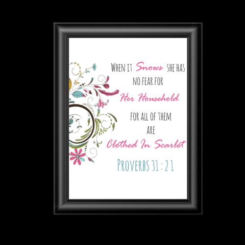 Proverbs 31:21 Printable