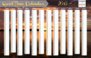 Quiet Time Calendar 2015