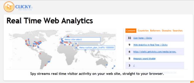Clicky Realtime Web Analytics