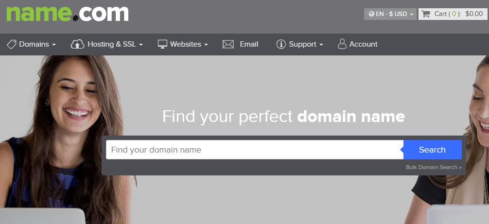 Online Domain Registrar - Name