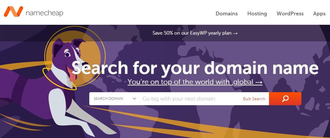 Online Domain Registrar - Name Cheap