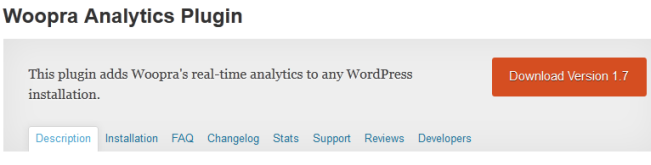 Woopra Analytics WP Plugin