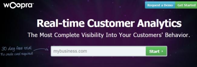 Woopra Customer Analytics Software