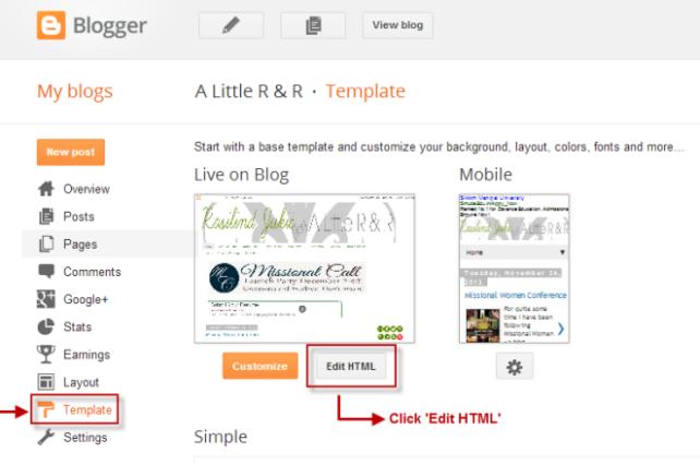 """Click """"Edit HTML"""""""