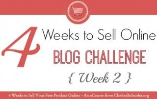 4 Weeks To Sell Online Blog Challenge – Week 2
