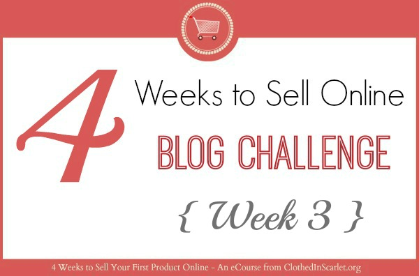 4 Weeks To Sell Online Blog Challenge – Week 3