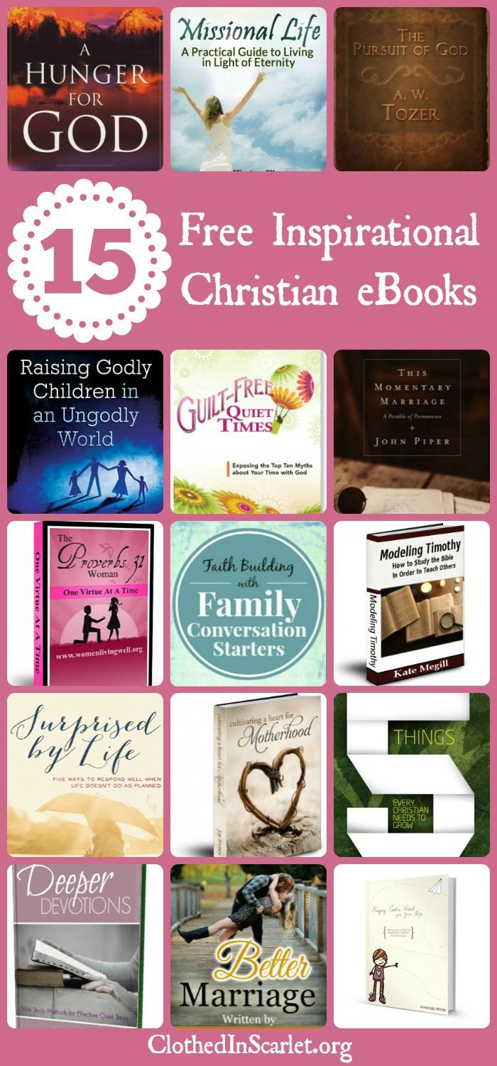 Workbooks god and family student workbook pdf : 15 Free Inspirational Christian eBooks | Clothed In Scarlet