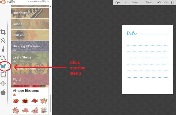 Click overlay menu