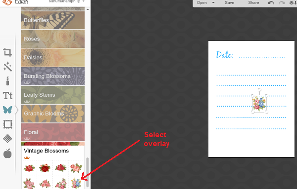 Select overlay