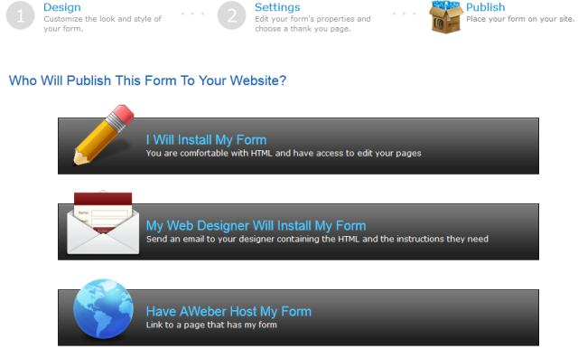 Install form