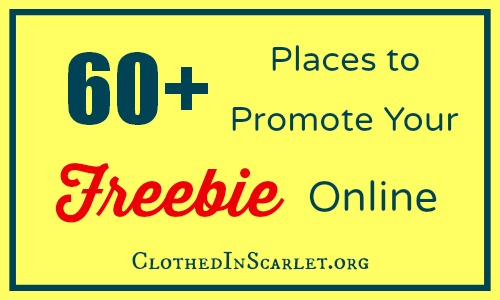 60+ Places to Promote Your Freebie Online