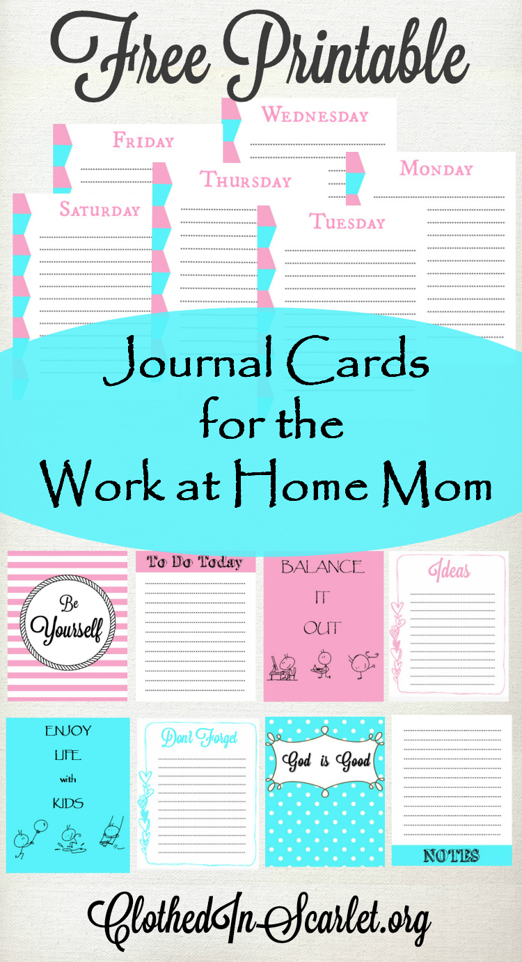 This is a photo of Free Printable Journaling Cards with regard to personal