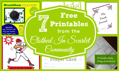 7 Free Printables from the Clothed In Scarlet Community