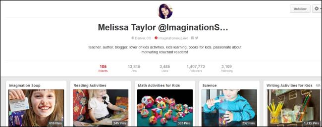 Melissa Taylor - Pinterest Profile